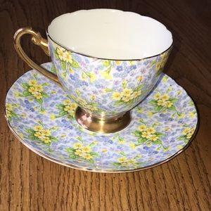 Charming Shelley Primrose Chintz cup & saucer set